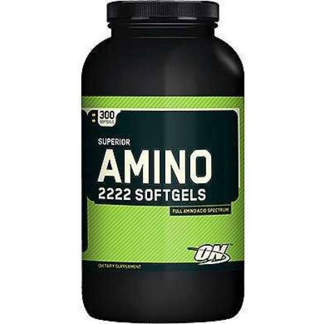 Amino 2222 Softgels аминокислоты, производитель Optimum Nutrition, упаковка 150 капсул