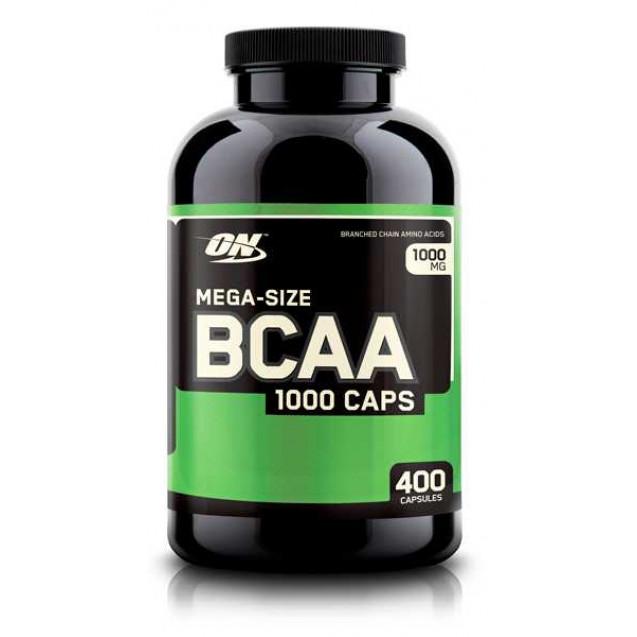 BCAA 1000 аминокилоты, производитель Optimum Nutrition, упаковка банка 400 капсул