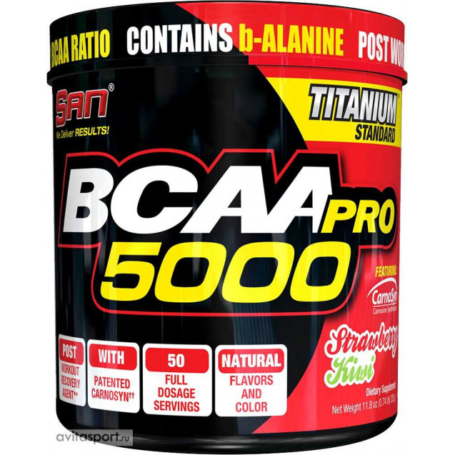 BCAA Pro 5000, SAN Nutrition, 340 гр.