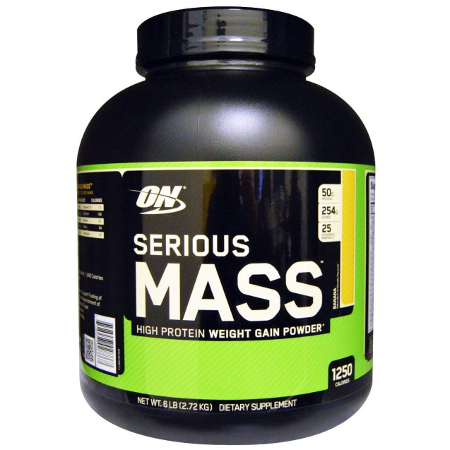 ON - Serious Mass, сириус масс гейнер, производитель Optimum Nutrition, упаковка банка 2720 гр.