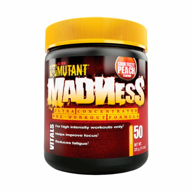 Mutant Madness предтренировочный комплекс, упаковка банка 275 грамм.