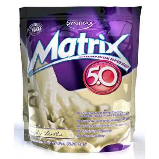 Matrix 5.0 протеин, матрикс, производитель Syntrax, упаковка пакет, вес 2270 гр