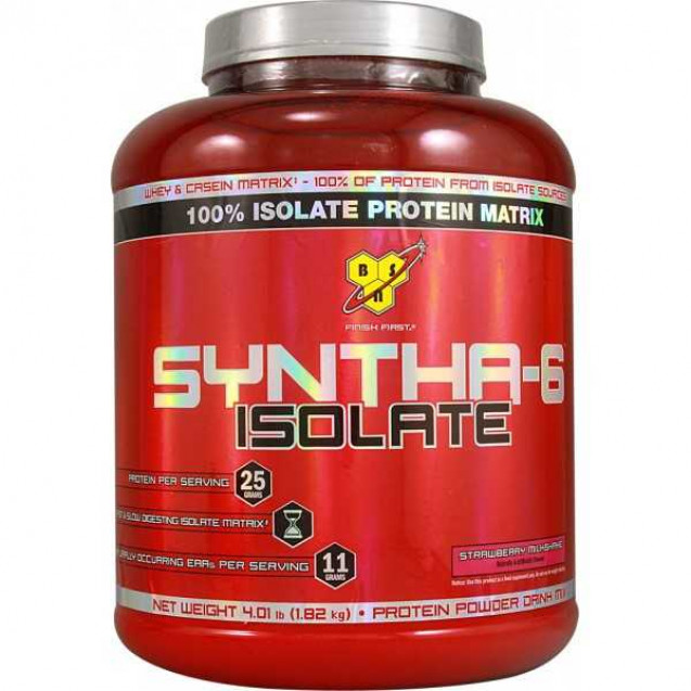 Syntha 6 ISOLATE 4 lb, протеин, производитель BSN, упаковка банка 1820гр